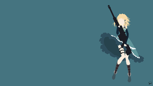 Tina Sprout (Black Bullet) Minimalist Wallpaper by greenmapple17