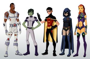 YJ: Teen Titans by Glee-chan