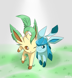 Request: Leafeon and Glaceon by BluuKiss