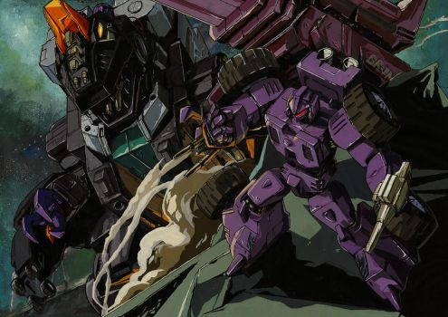 Team of Trypticon--colored by marble-v