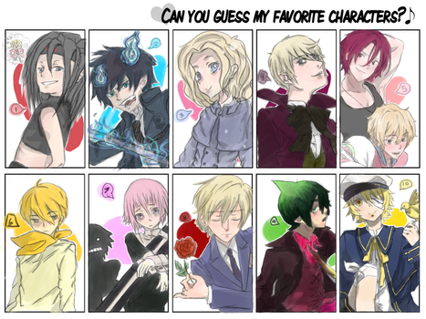 Can you guess my favourite characters? by oEnvy