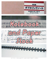 Notebook and Paper stock by pflee77