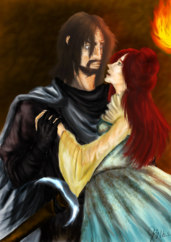 Sansa and The Hound by bittersweet-gin