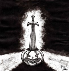Inktober 6: Sword by FoxyTeah