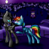 Discorded Whooves and Rainbow Dash by mintony