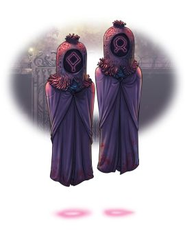 Hooded-figures- the twins by Onikaizer