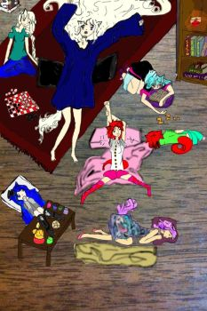 Sleep over with friends by Wolfrain98