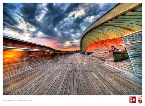 Sunset at Henderson Waves by perfectSky