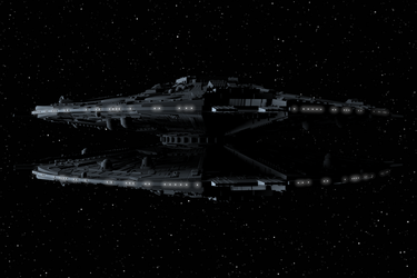 Cylon Basestar 06 by peterhirschberg