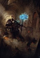 Deathwatch Spacemarine by bradwright