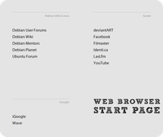 Web Browser Start Page by hadret