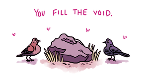 Bird And Boulder Valentine by NewGlasses