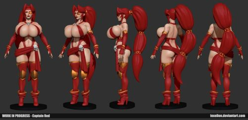 Captain Red WIP 01 by Texelion
