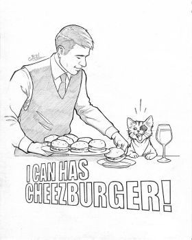 Tabby Sketchbook- I Can Has Cheezburger! by EricGravel