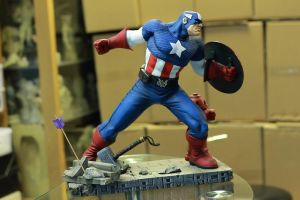 Captain America Painted by mufizal