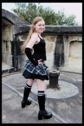 of lace and tartan 02 by SilverTalion