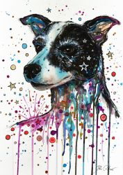 Portrait of a crazy dog by PixieCold