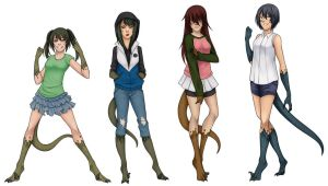 The Raptor Girls by The-Knight-Writer