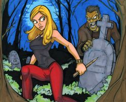 Buffy 11x14 marker colored by grantgoboom