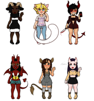Horned Babes Adopts -Closed- by QueenAdoptables