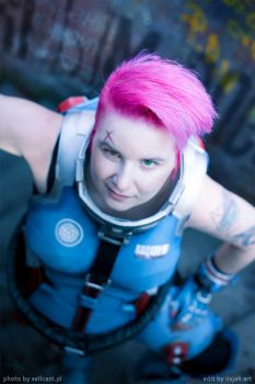 What are you looking at - Zarya cosplay 2018 by iisjah