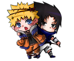 Sasunaru CHIBI yaoi SAMPLE COMMSISSION by arisa-chibara
