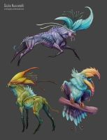 Creatures from plants 02 by Spighy
