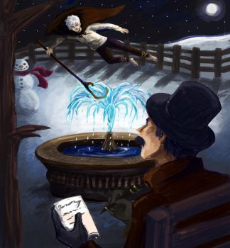 What if Jack Frost Inspired Peter Pan (Commission) by minjimouse