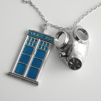 Are you my Mummy? Tardis Necklace by MonstersPins