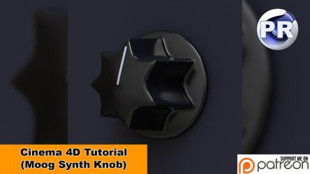 Model a Moog Synth Knob (Cinema 4D Tutorial) by NIKOMEDIA