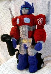 Optimus Prime Tribute Doll by voxmortuum