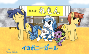 Squid Pony Girl Group Pic by AnimationFanatic