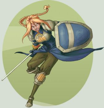 FFT - Agrias in Action by zeratanus