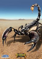 Uken-titans Mperry GiantScorpion by MikePerryArt
