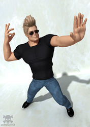 Johnny Bravo by uchuujinx