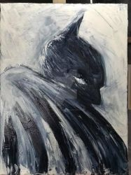The Batman in Acrylic sold by leo-darkheart