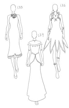 Eevelution dress outline 1 by iRedRose