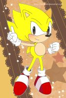 Sonic Postcard - Classic Super Sonic by Crystal-Ribbon
