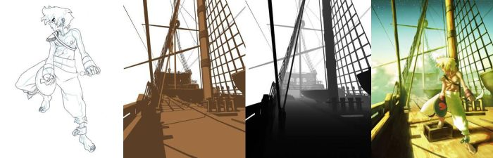 sky pirate 3d plate and depth by chkkll