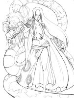 one piece boa hancock lineart by Kyoffie12