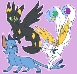 Old Pokesonas by ClefdeSoll