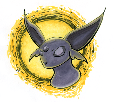#196 Espeon by Zalcoti