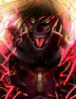 Eren Titan transformation !! by hawaiigurl123