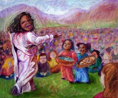 Oprah Feeds the 5000 by Schlady
