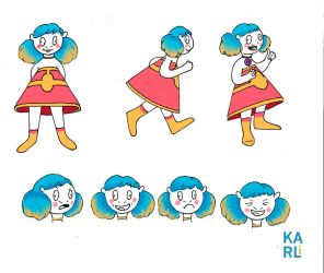 Character Design - Goof Girl by soadown