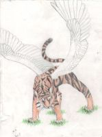 Winged Tiger by Palaxius