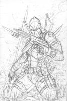 Deadpool Commission Rough by jamietyndall