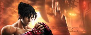 Jin And Devil Jin - Facebook Cover Photo 2012-02 by Blood-Huntress