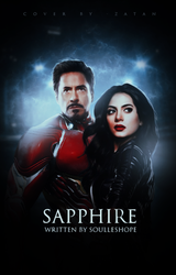 sapphire, wattpad cover by larriereligion