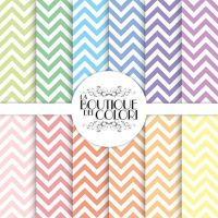 Pastel Chevron Digital Paper by KaipheArt